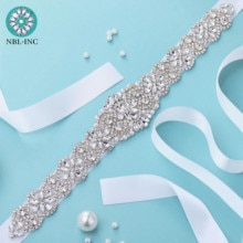 (1PC) Braut strass diamant gürtel hochzeit mit kristall gürtel zubehör braut schärpe für hochzeit kleid WDD1043