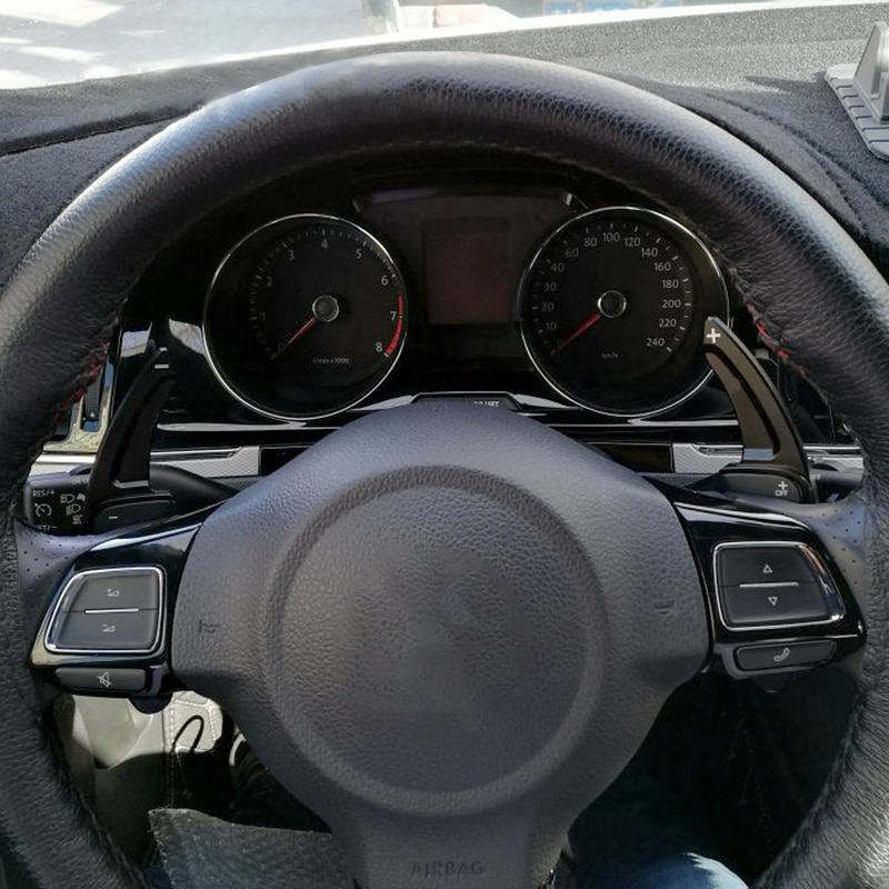 Volante do carro mudança paddle dsg paddle extensão para vw tiguan golf 6 mk5 mk6 jetta gti r20 r36 cc scirocco assento leon auto