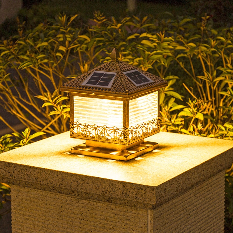 No need to use electricity. Solar street lights are used for garden walls, which are waterproof and energy-saving decorative LED
