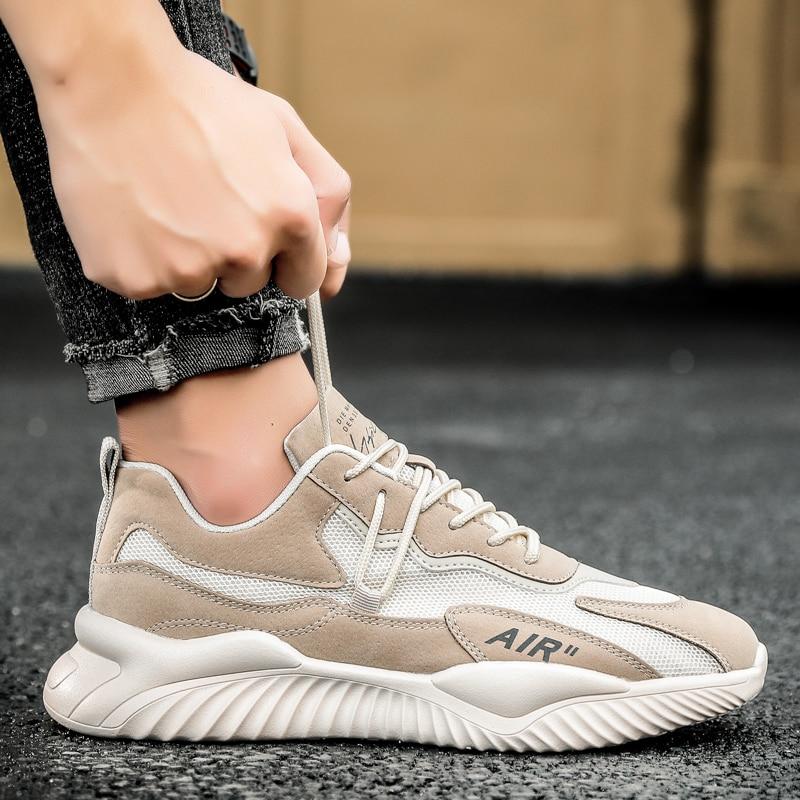 2021 Весенняя сетчатая Вулканизированная обувь для мужчин, дышащая повседневная обувь, спортивная обувь для тренажерного зала, Мужская неско...