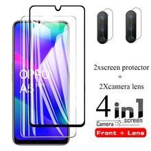 4-en-1 orro a5 2020 film de protection en verre pour oppo a5 2020 protection darmure de sécurité en verre oppo a5 opo a 5 2020 a52020 6.5