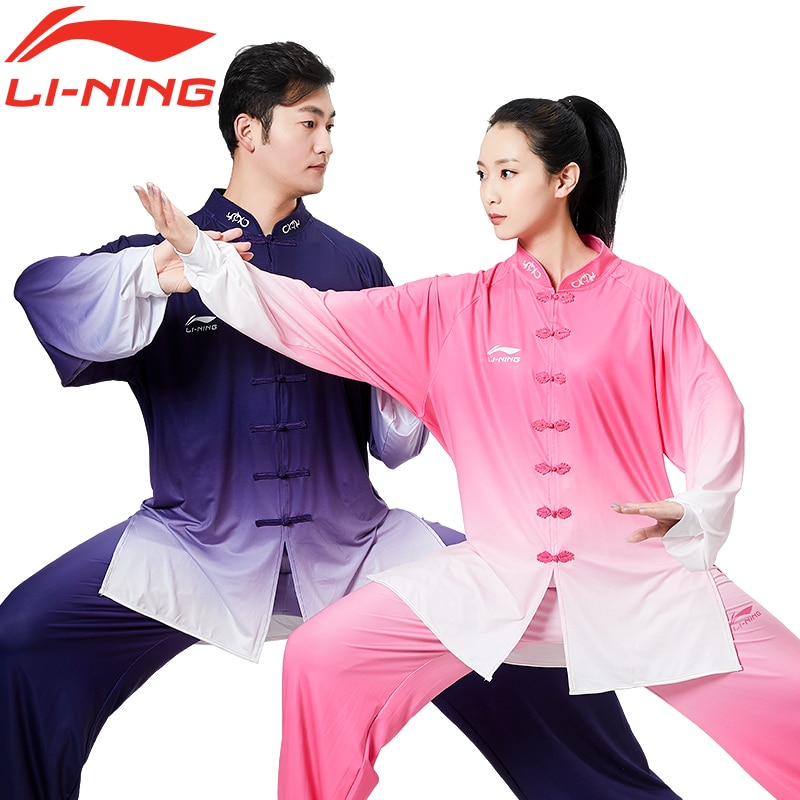 Li Ning Tai Ji Suit Female Summer New Tai Chi Exercise Clothing Female Racing Suit Male Chinese Style Spring and Autumn