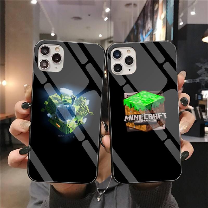 NBDRUICAI mini mundo de lujo diseño único teléfono cubierta de vidrio templado para iPhone 11 Pro XR XS MAX 8X7 6S 6 Plus SE 2020 funda