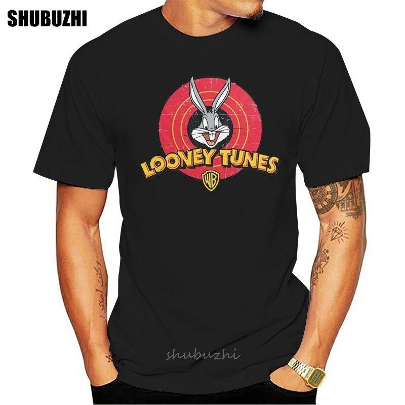 Looney tunes bugs bunny warner irmãos oficialmente men t-shirts moda masculina algodão marca teesshirt
