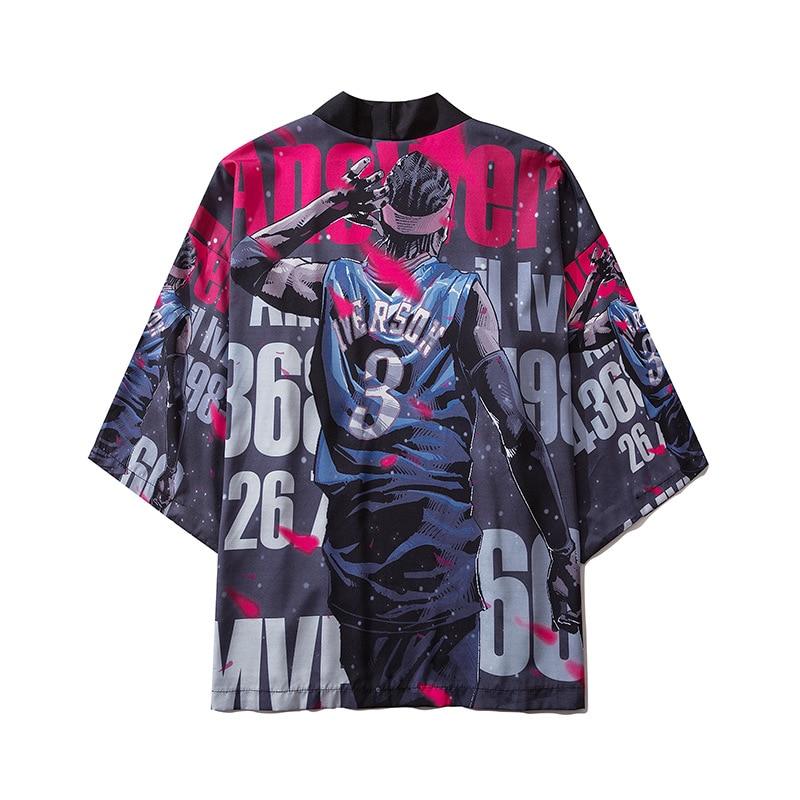 Kimono japonés para hombres Yukata, cárdigan con estampado de Kimono para hombres, camisa de protección solar para hombres, Playa delgada, informal, Boulses, Kimono, traje de Cosplay, Top