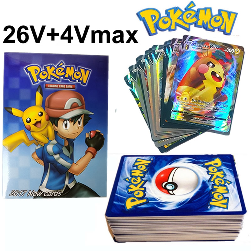 30PCS TAKARA TOMY Pokemon Cards Vmax Shining Card English Sword Shield Booster Box Collection Tradin
