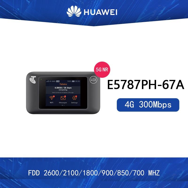مقفلة هواوي e5787 E5787Ph-67a LTE Cat6 300Mbps موبايل واي فاي هوت سبوت 4G المحمولة راوتر 3000mAh بطارية 2 قطعة هوائي