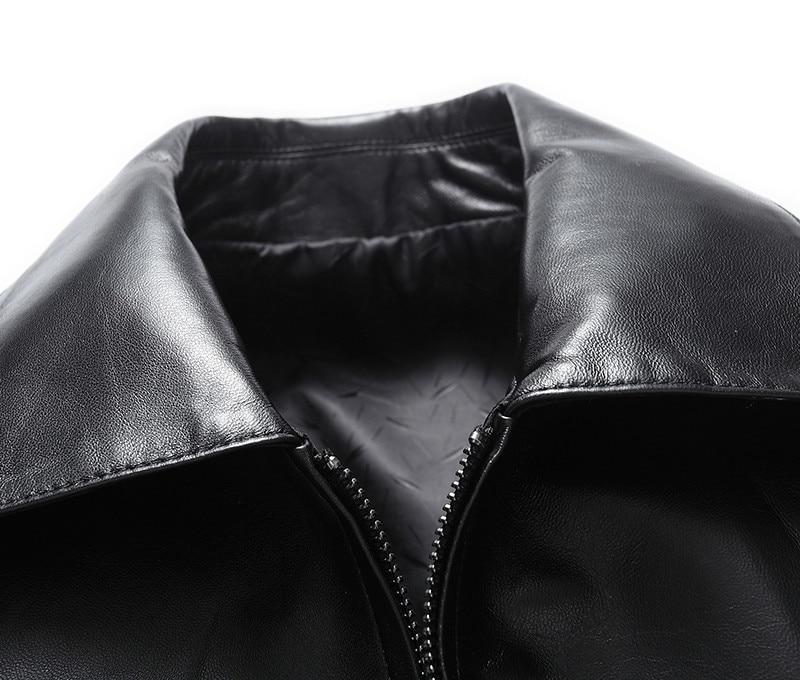 Men's Leather Jacket 100% Sheepskin Coat Real Genuine Leather Jackets Spring Autumn Chamarra Motociclista KS-D652-1