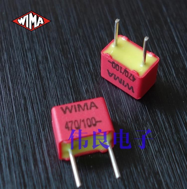 2 pçs frete grátis wima 100 v 470pf n47 471 série fkp2 capacitores de filme original novo