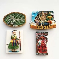 Asia India Tourist Souvenir Fridge Magnets Decoration Articles Handicraft Magnetic Refrigerator Collection Gifts