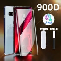 uv tempered glass for samsung galaxy s10 screen protector samsung s20 ultra note 10 plus 8 9 s10e s8 s9 full liquid curved glass