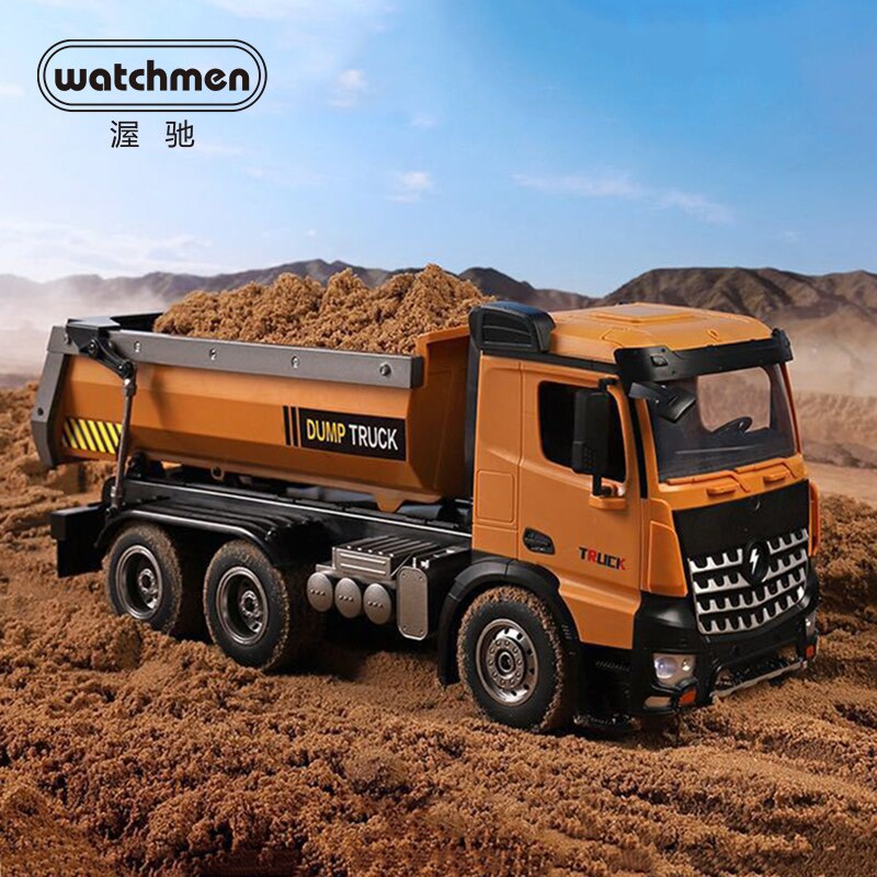 Camión de Control remoto 1/14 WLtoys 14600, volquete de fundición a presión, estructura de elevación libre de 45 grados, Cubo de juguete de camión volquete rc