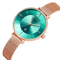 curren classic woman watch stainless steel wrist watch date display fashion colorful ladies mesh watches waterproof reloj mujer
