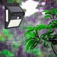 100 144 led solar light outdoor solar lamp pir motion sensor wall light waterproof solar powered sunlight for garden decoration