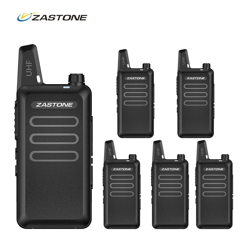 6PCS Zastone X6 Mini Walkie Talkie UHF Two way radio Portatile Tenuto In Mano Comunicador Due-Way Ham Radio FM Frivolity