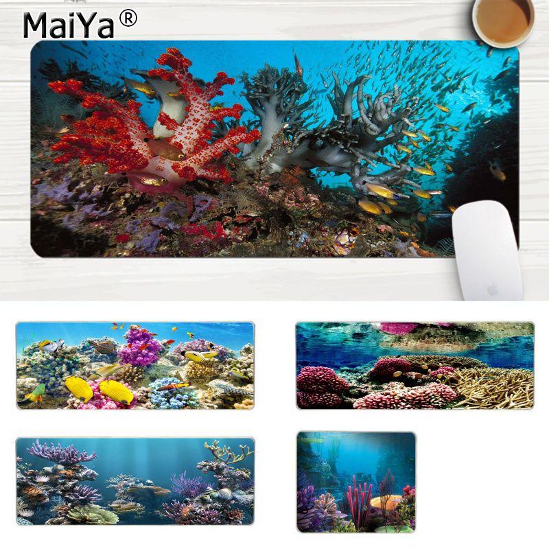 MaiYa, novedad, setwalls, algas marinas, peces, ratones de velocidad para videojuegos, venta al por menor, alfombrilla para ratón de goma, alfombrilla grande para ratón, alfombrilla para ordenador PC