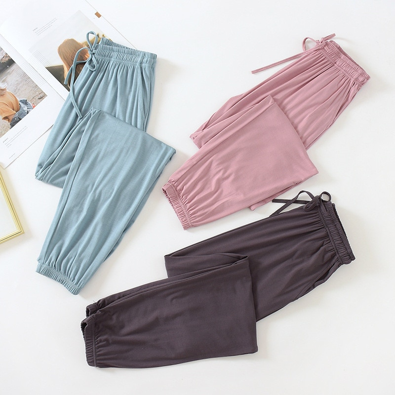 Autumn Women's Pajama Pants Modal Lounge Wear Home Pants for Women Autumn Home Pants Fall Homewear