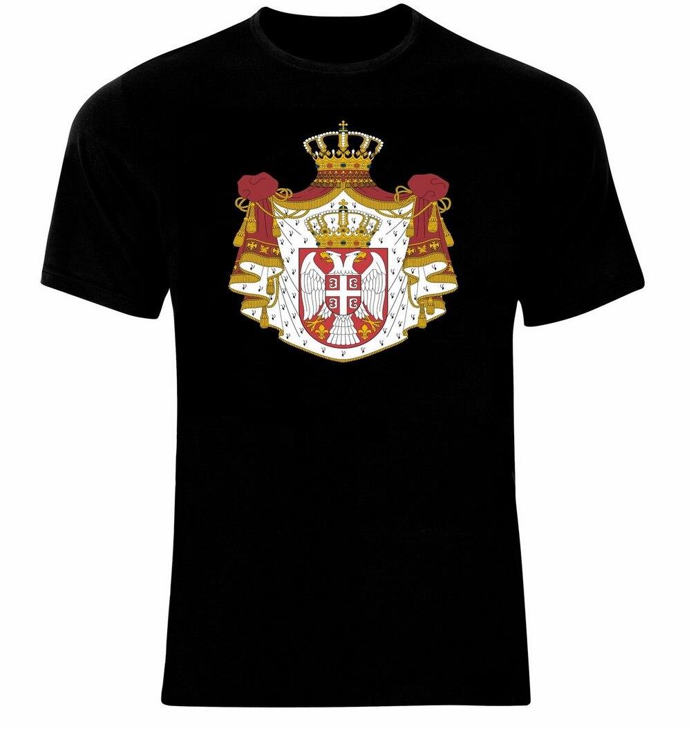 Escudo de Armas de Serbia armas serbias bandera Tops camiseta todas las tallas harajuku divertida camiseta