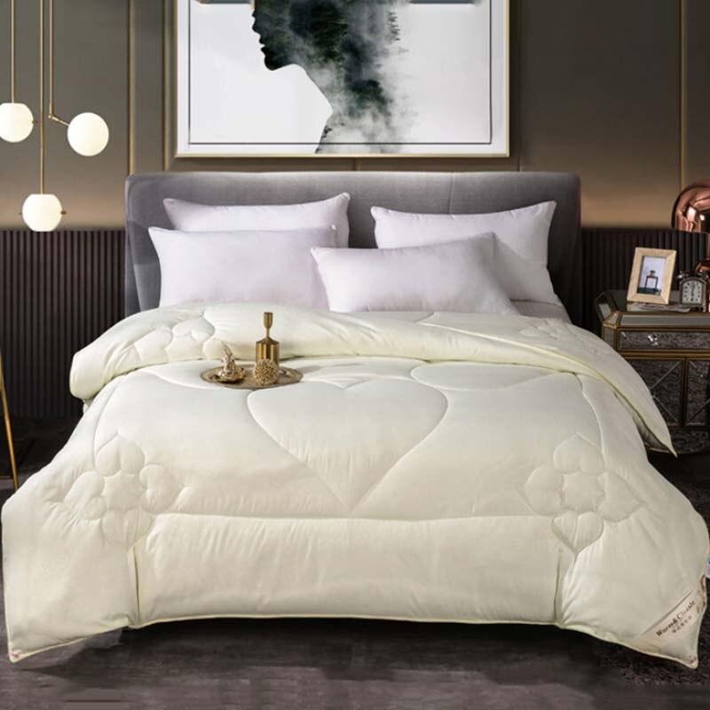 لحاف سرير عالمي بطباعة قلب ، مفرش سرير سميك ، للمنزل ، الشتاء/الصيف ، أربعة مواسم