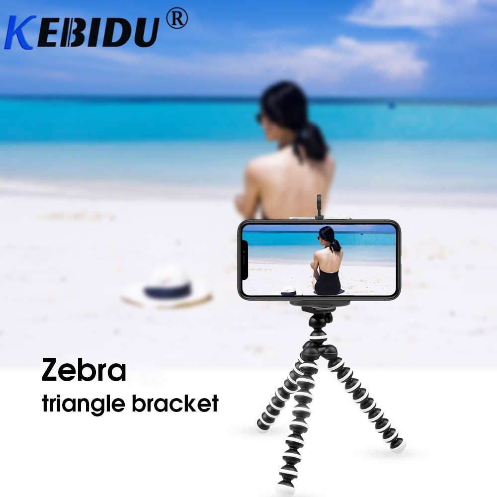Soporte de trípode Kebidu pulpo Flexible Gorillapod para teléfono móvil Smartphone Dslr tabla para cámara escritorio Mini trípode