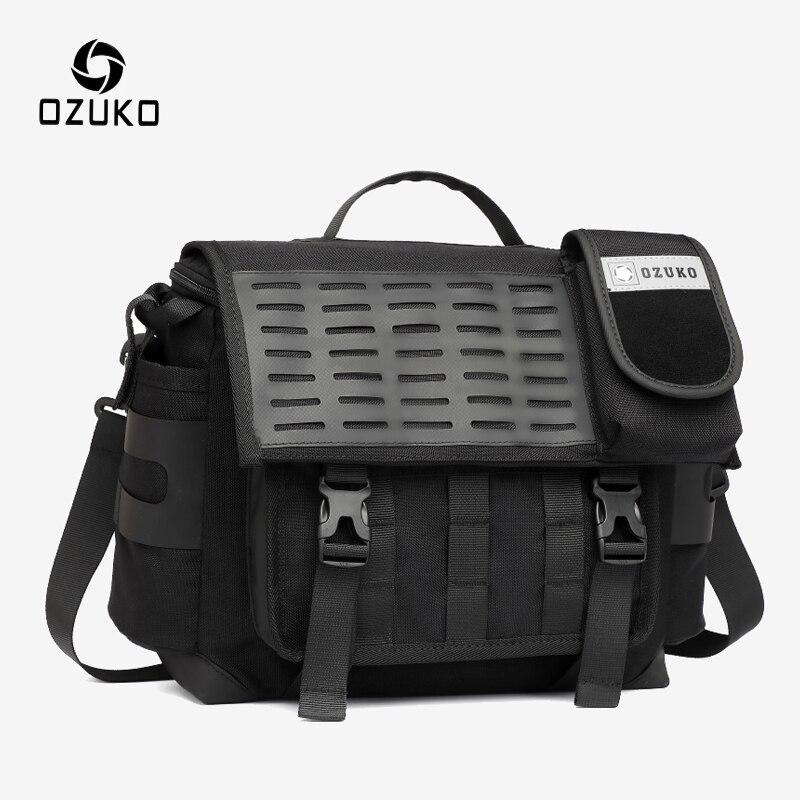 OZUKO, мужские сумки на плечо, модная Функциональная сумка мессенджер, Мужская большая Вместительная дорожная сумка, Мужская водонепроницаемая сумка через плечо