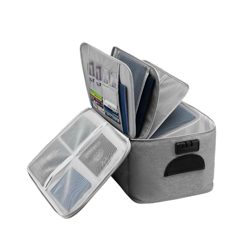 سعة كبيرة وثيقة حقيبة التخزين صندوق مقاوم للماء وثيقة مقسم حقيبة أوراق كيس التخزين حقيبة ملفات السفر