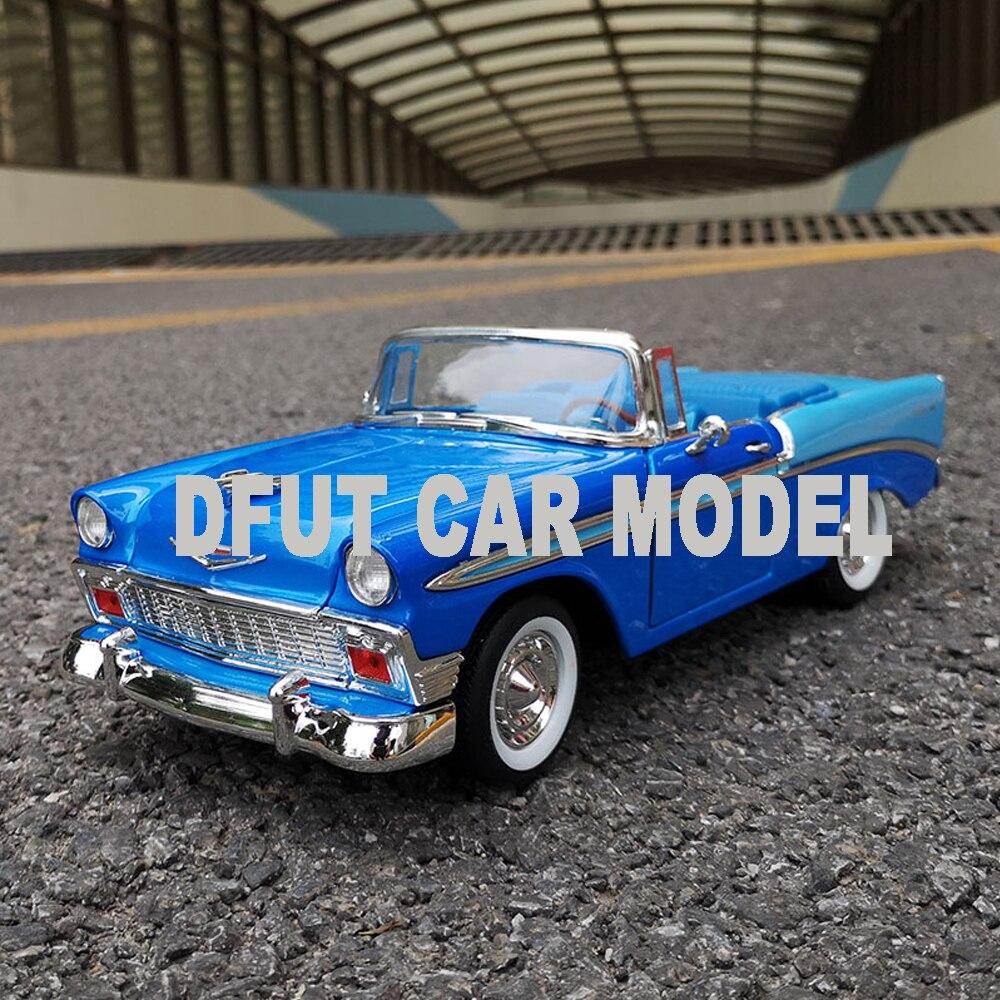 Diecast 118 aleación Pull Back juguete BEL AIR 1956 coche modelo de coches de juguete para niños Original autorizado auténtico niños juguetes