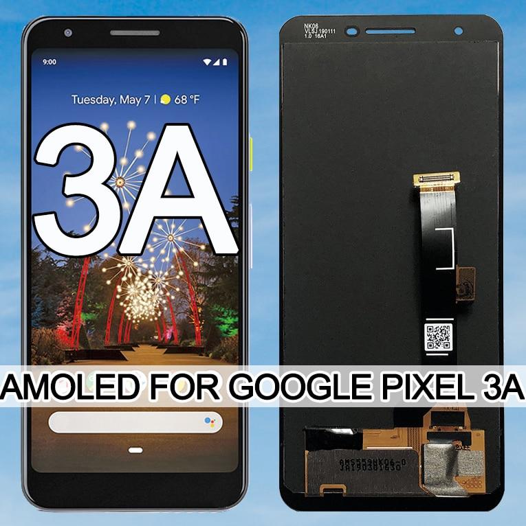 Original 5.6 AMOLED For Google Pixel 3A LCD Display Touch Digitizer Screen For Google Pixel 3A OLED Replacement No Dead pixel t kuula kansanlaulu op 3a no 4
