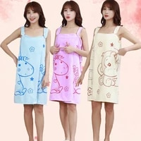fiber polyesternylon variety magic female bath towel can wear sling bath dress 80135 thick absorbent bathrobe