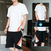 summer new fashion casual mens t shirt shorts suit mens sportswear track suit basketball suit two piece suit m 4xl