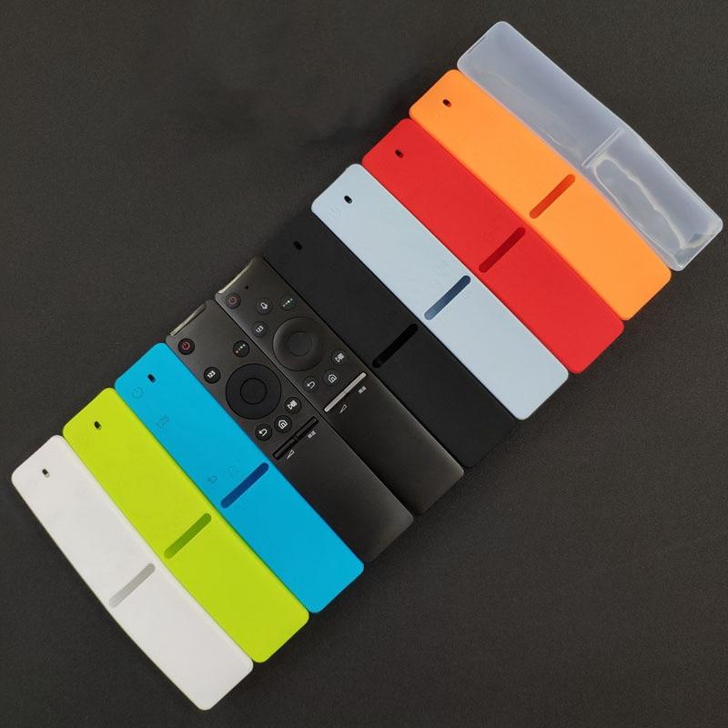 Capa protetora de silicone para samsung smart tv, capa de proteção para controle remoto por voz, 1 peça