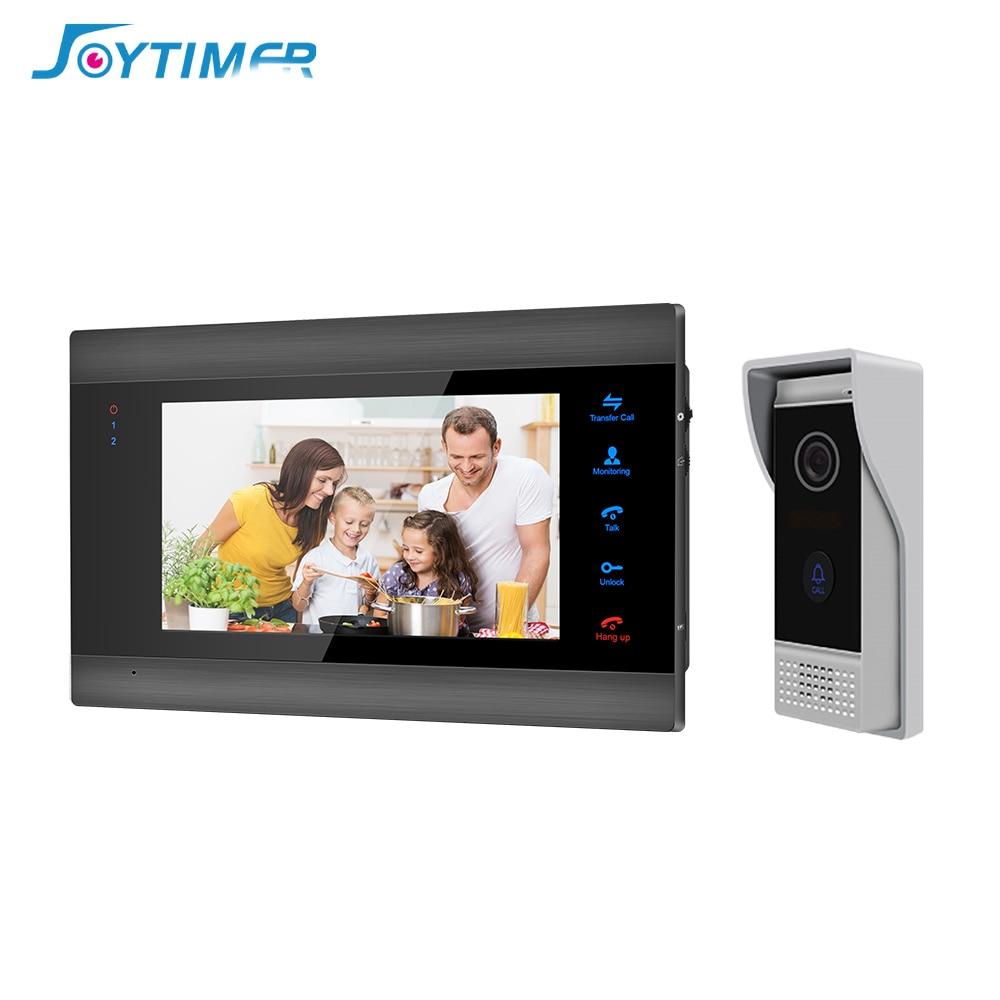 Joyالموقت المنزل جرس باب يتضمن شاشة عرض فيديو 7 بوصة فيديو إنترفون 1200TVL فيديو باب الهاتف مع كشف الحركة للرؤية الليلية كاميرا