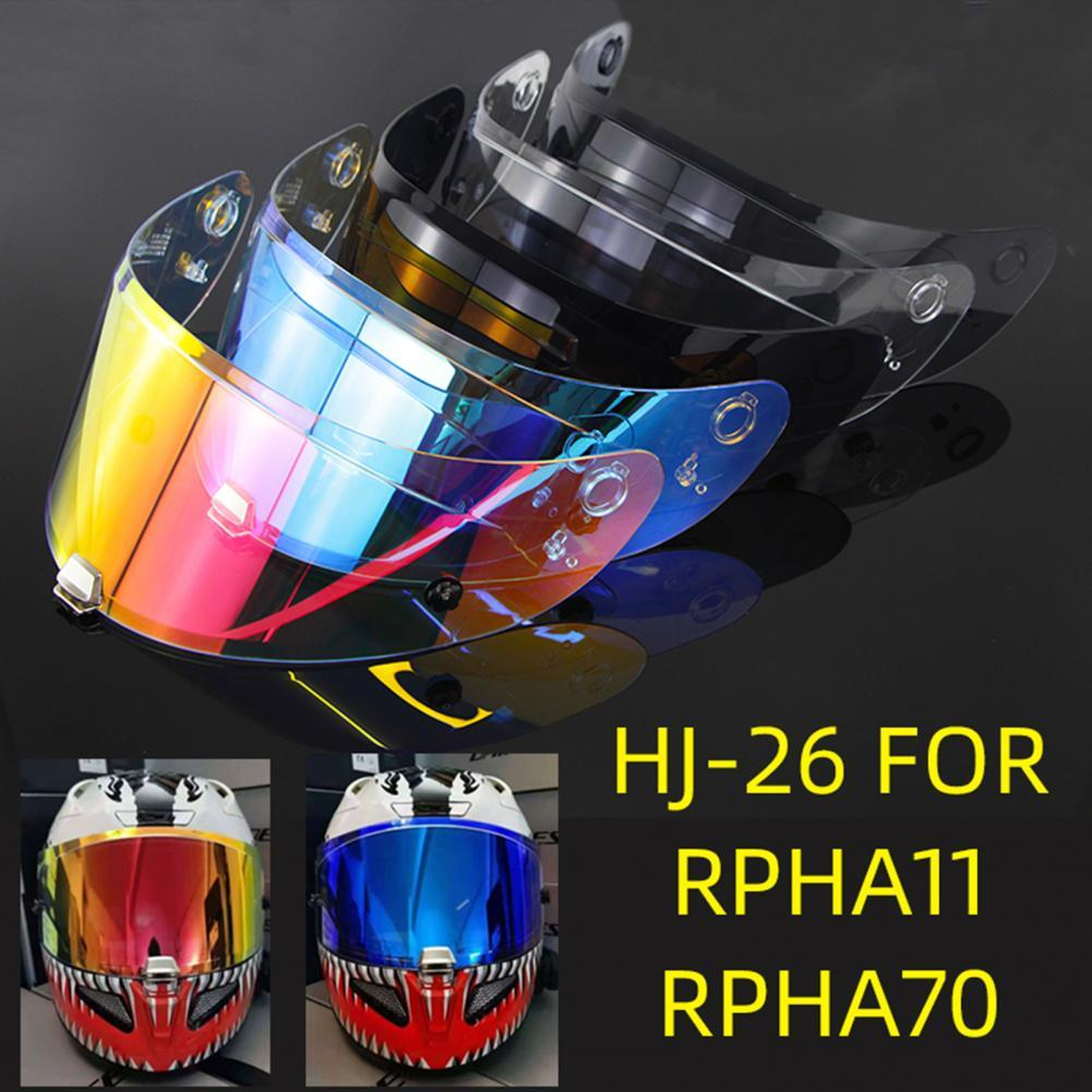 80% Dropshipping!REVO Helmet Visor Lens UV Protection Night Vision Safe Full Face Motorcycle Helmet Lens for HJ-26 RPHA11 RPHA70 helmet visor for hjc rpha11 rpha70 motorcycle detachable helmet glasses motorbike helmet lens motocross full face visor