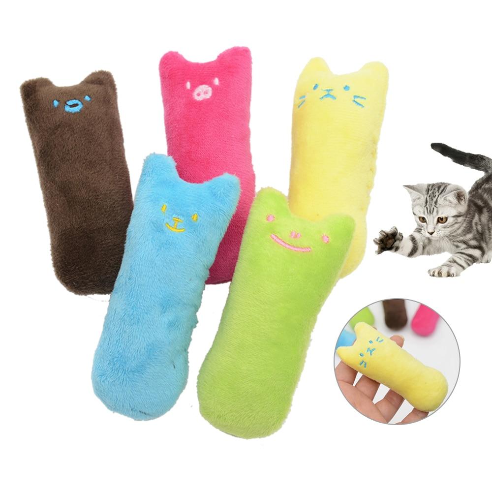 Divertido interactivo de lujo Gato los dientes de amolar Catnip juguete gato almohada de amolar mordida resistente gato de peluche juguetes suministros para mascotas