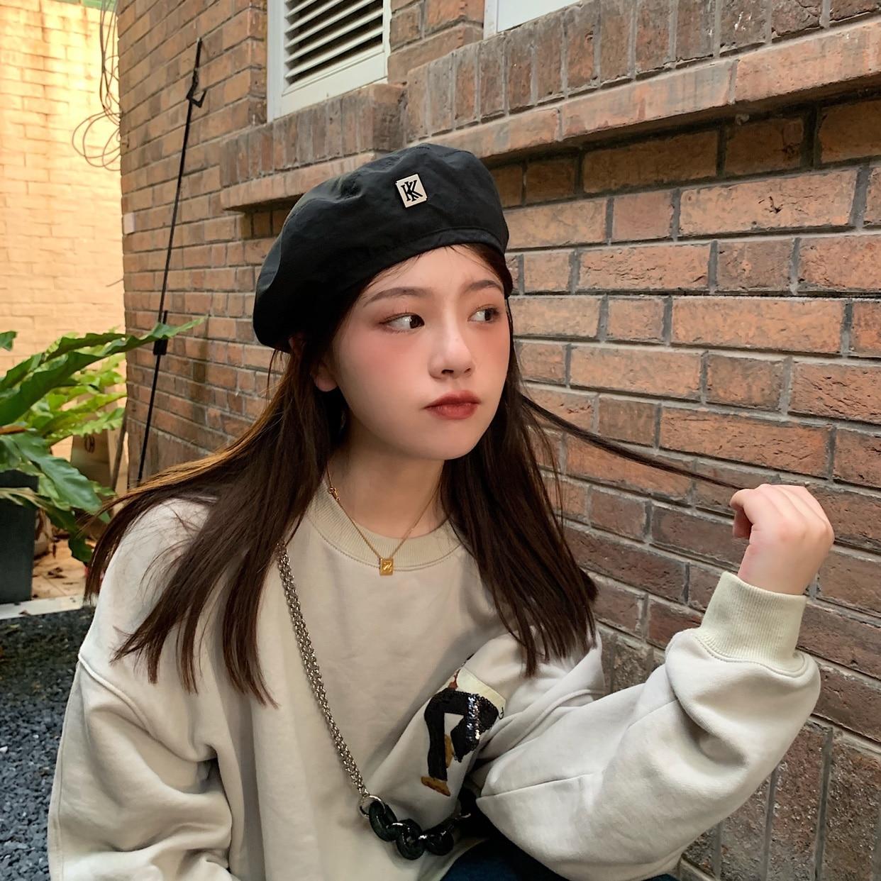 Adjustable Beret Women Retro Painter Hat Spring Autumn Thin Style Fashion Newsboy Hat Multi-color