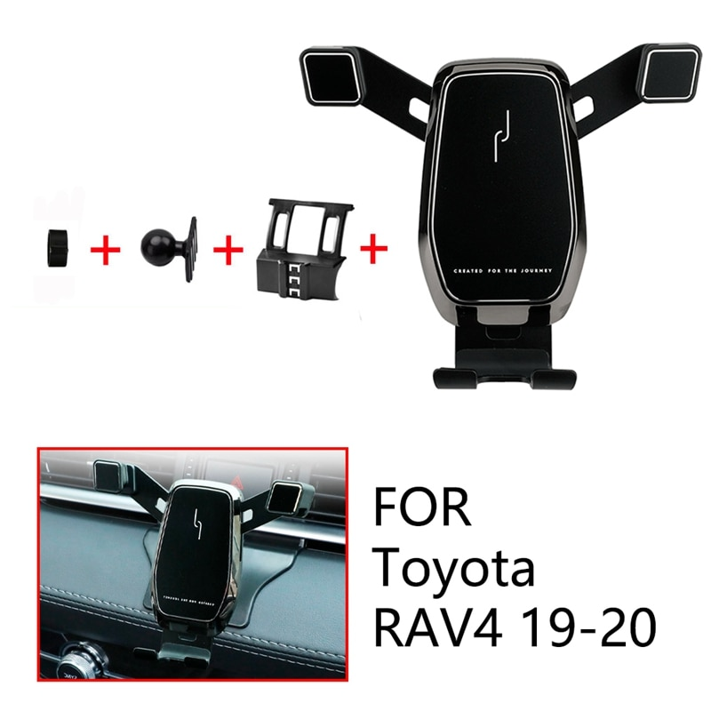Soporte de teléfono para montaje en coche Clip de rejilla de ventilación soporte de teléfono móvil para Toyota RAV4 2019 2020 accesorios de coche