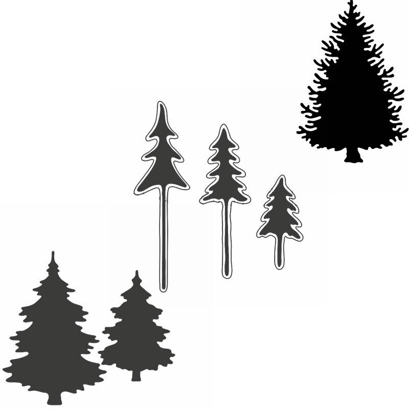 Árboles artísticos corte de Metal troqueles delicados árboles para decoración navideña troquelados para hacer tarjetas DIY nuevas 2019 tarjetas artesanales