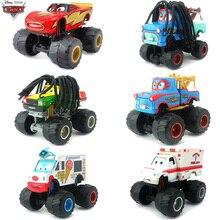 1:55 Disney Pixar Cars Big Feet Long Hair Mater Ambulance Car Toys Lightning McQueen Metal Diecast Car Toys Kids Birthday Gift