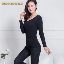 Thermal Underwear Set Lace Woman Winter Clothing Warm Suit Long Sleeve Top Warm Pants Leggings Therm