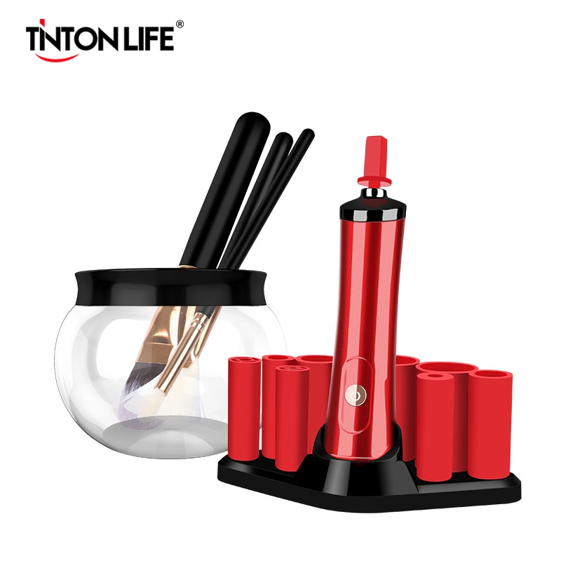 Escova de maquiagem elétrica mais limpo conveniente silicone compõem escovas de lavagem limpador ferramenta de limpeza máquina dispositivo mais limpo