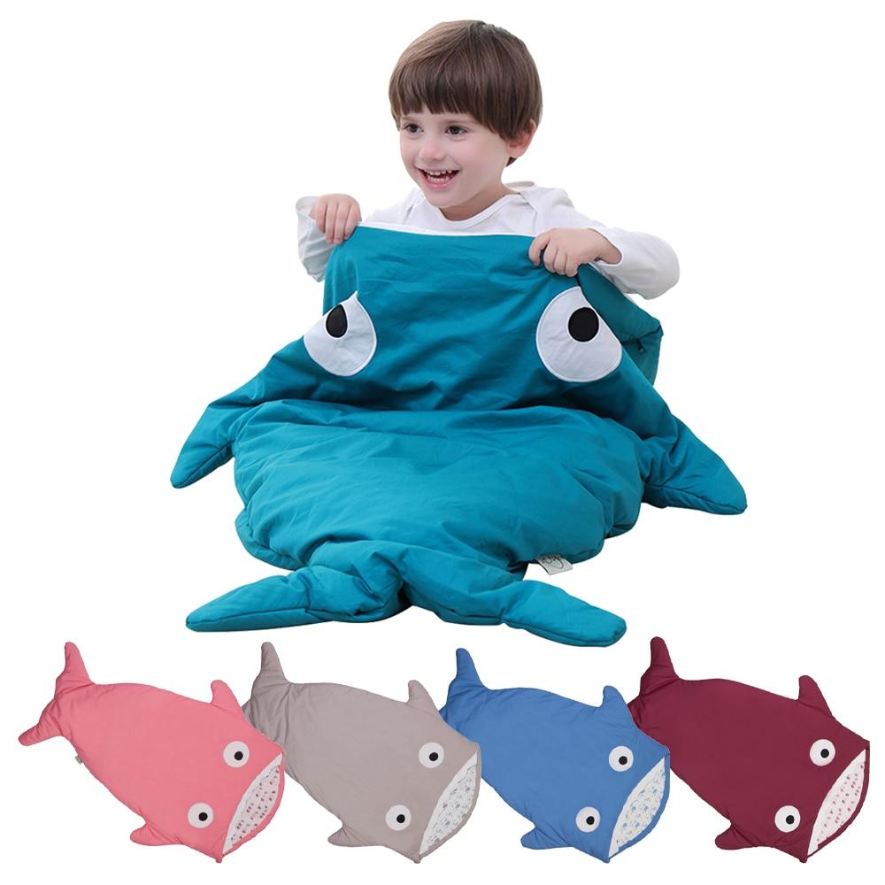 طفل القرش الذيل كيس النوم للطفل التخييم snuly القطن قماش للف الرضع حديثي الولادة كيس النوم فكرة هدية بطانية الفراش
