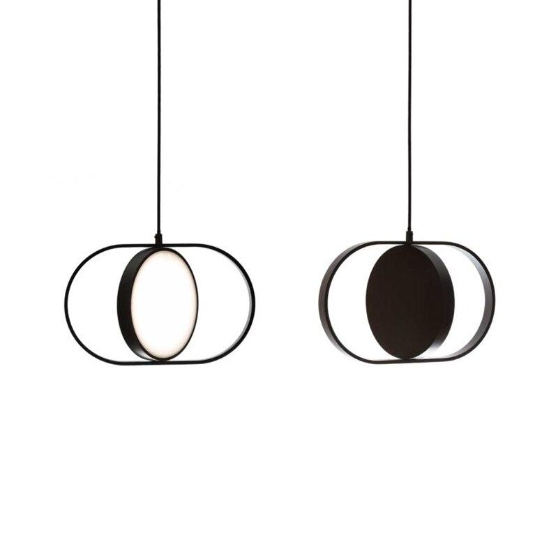 moderna lampada pingente de ferro acrilico preto barra cabeceira quarto restaurante