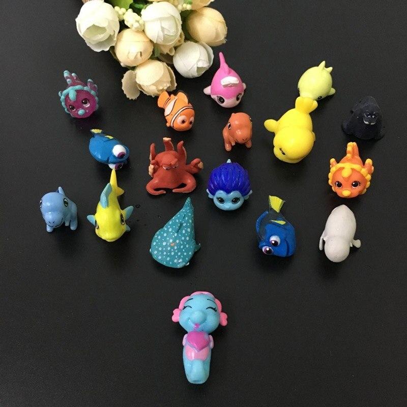100pcs-50pcs/lot mini soft chupa chups Capsule Food Play figure model doll toy animal sea fish turtle collectible gift for kids