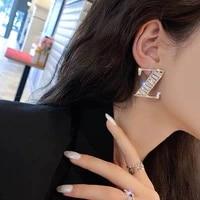 fashion leisure rhinestone letter z womens earrings shiny crystal luxury pendants statement earrings jewelry gifts