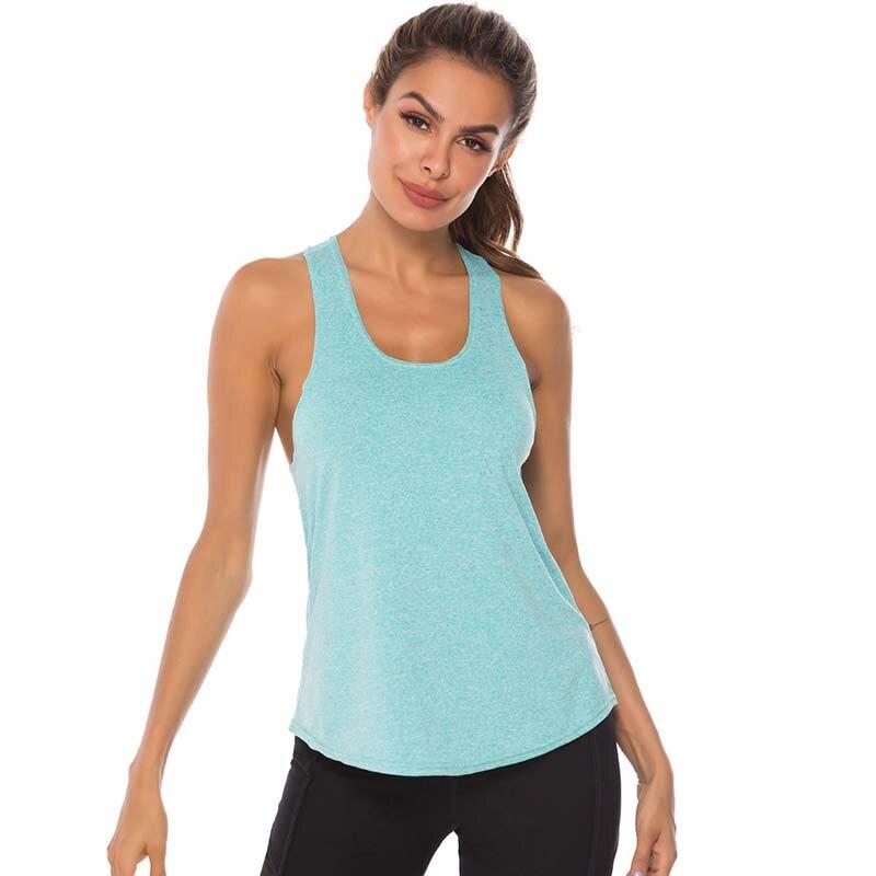 Sin mangas Racerback Yoga chaleco deporte Singlet mujeres Atlético Fitness deporte Tank Tops entrenamiento correr en gimnasio Yoga camisetas