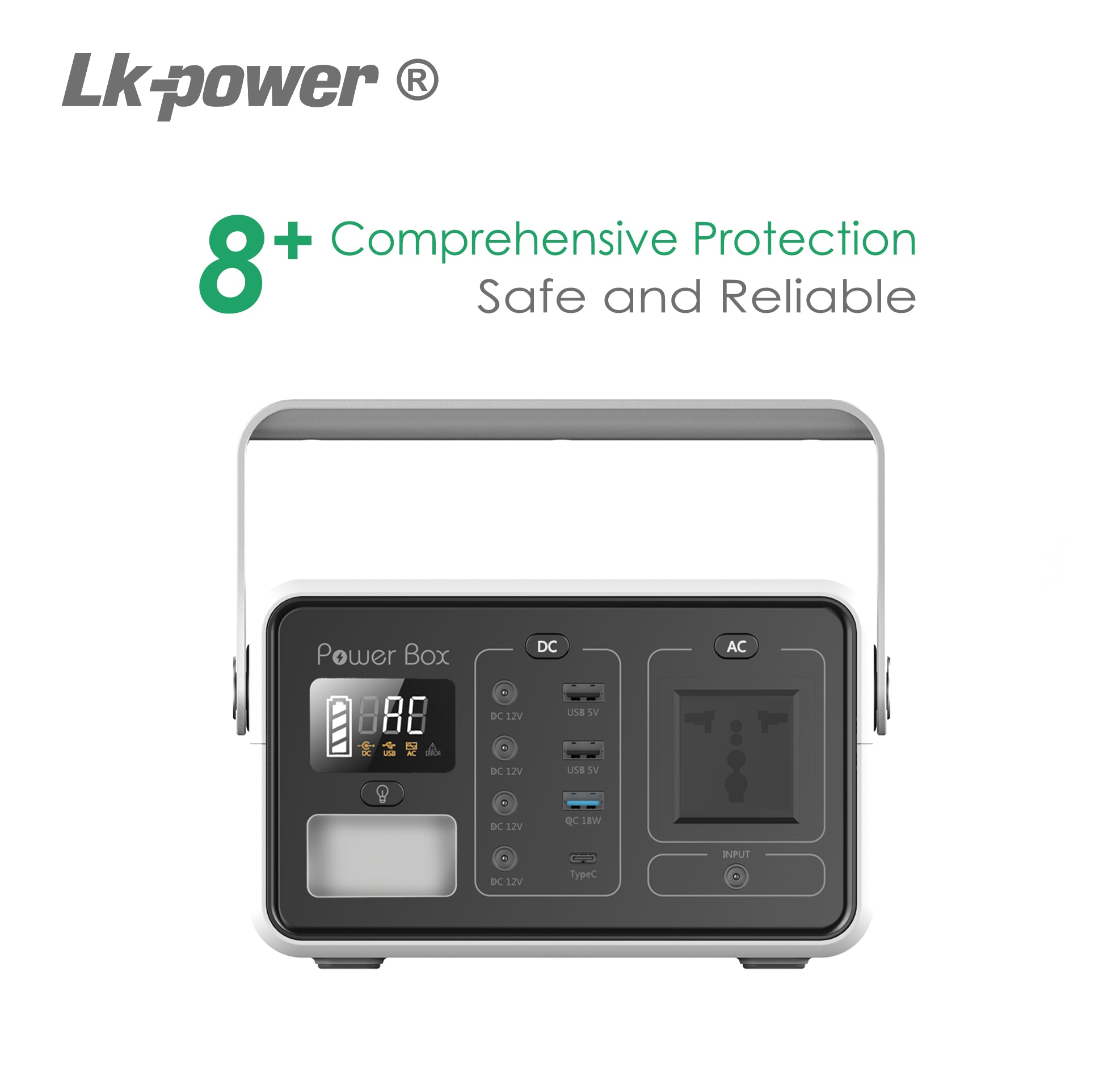 60000mAH Portable Solar Power  Generator with Lithium Battery enlarge
