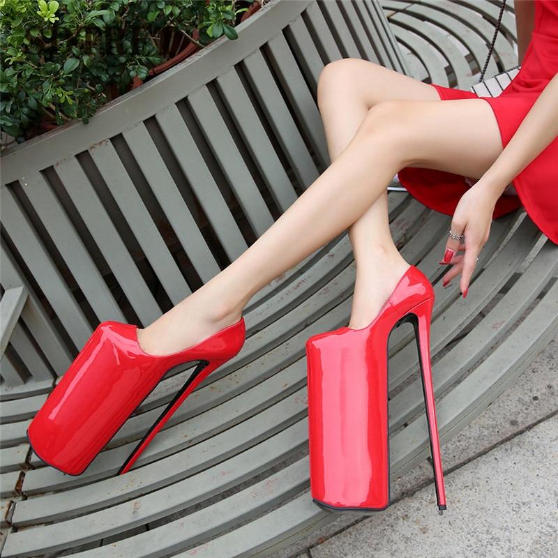 SDTRFT New Designer Stilettos platform Crossdresser 30cm Ultra High Thin heels Girl's shoes woman Lolita Uniform Buckle pumps