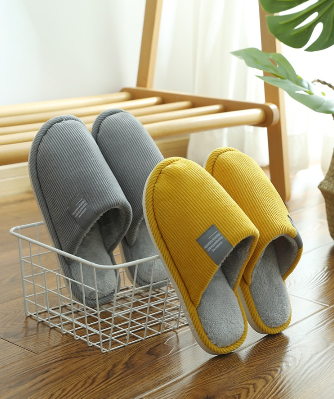 Winter Indoor Women Slippers House Plush Soft Cotton Slippers Non-slip Floor Shoes Home Slippers Women Slides For Bedroom home warm slippers for men women winter furry short plush man slippers non slip bedroom slippers couple soft indoor shoes male