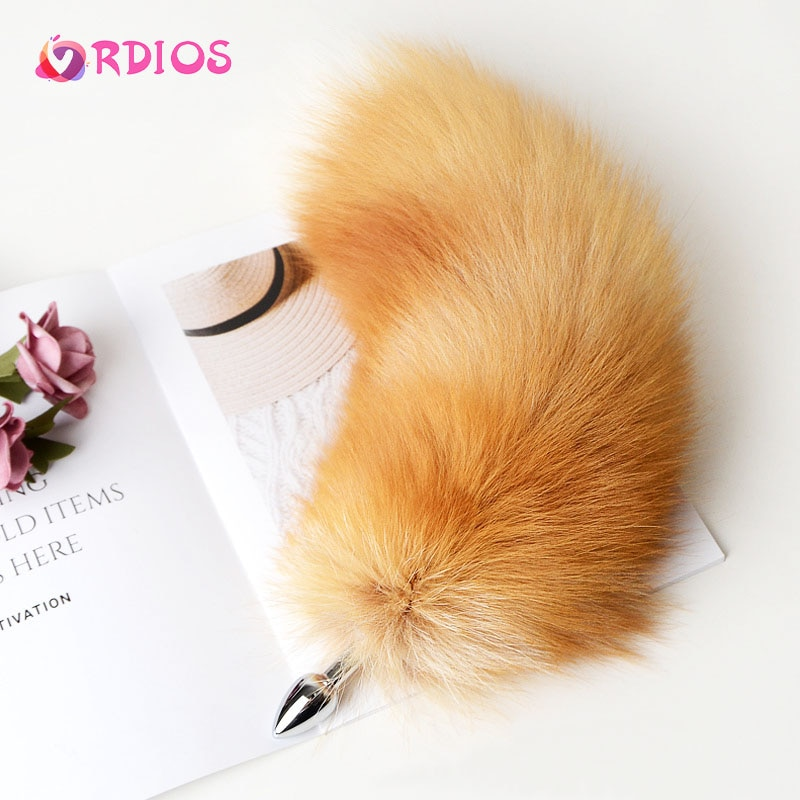 Detachable Anal Plug Real Fox tail Smooth Touch Metal Butt Plug Tail  BDSM  Toys for Woman Couples  Games  Shop