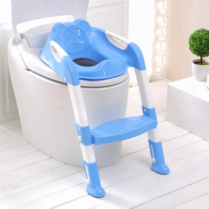 Folding Baby Potty Infant Kids Toilet Training Seat with Adjustable Ladder Toilet Portable Urinal Potty Training Seats for Child